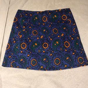J.Crew paisley skirt